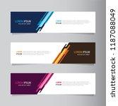 vector abstract banner design... | Shutterstock .eps vector #1187088049