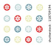 snowflakes icon collection | Shutterstock .eps vector #118709194
