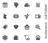 set of christmas icons | Shutterstock .eps vector #118710040
