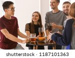 group of cheerful friends...   Shutterstock . vector #1187101363