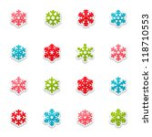 snowflakes icon collection | Shutterstock .eps vector #118710553