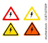 high risk icon triangle  danger ... | Shutterstock .eps vector #1187107009