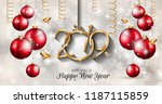 2019 happy new year background... | Shutterstock .eps vector #1187115859