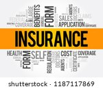 insurance word cloud collage ... | Shutterstock .eps vector #1187117869