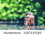 saving money concept | Shutterstock . vector #1187119183