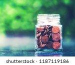 saving money concept | Shutterstock . vector #1187119186