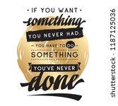 inspirational quote  motivation.... | Shutterstock .eps vector #1187125036