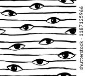 hand drawn eye doodles icon... | Shutterstock .eps vector #1187125966