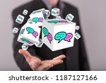 communication concept above the ... | Shutterstock . vector #1187127166