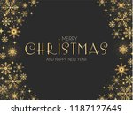 elegant christmas background... | Shutterstock .eps vector #1187127649