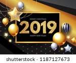 happy new 2019 year  shining... | Shutterstock .eps vector #1187127673