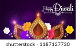 happy diwali. traditional... | Shutterstock .eps vector #1187127730