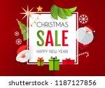 christmas sale season design... | Shutterstock .eps vector #1187127856