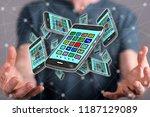 apps concept between hands of a ... | Shutterstock . vector #1187129089