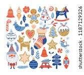 christmas holiday element set... | Shutterstock .eps vector #1187129326
