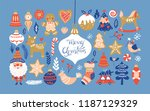 christmas holiday element set... | Shutterstock .eps vector #1187129329
