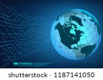 abstract technology background... | Shutterstock .eps vector #1187141050