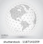 three dimensional dotted world... | Shutterstock .eps vector #1187141059