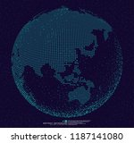3d dotted globe abstract... | Shutterstock .eps vector #1187141080