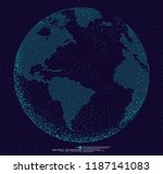 3d dotted globe abstract... | Shutterstock .eps vector #1187141083