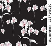 Flower Seamless Pattern With...