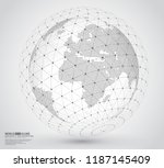three dimensional dotted world... | Shutterstock .eps vector #1187145409