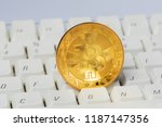 bitcoin cryptocurrency digital... | Shutterstock . vector #1187147356
