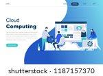 modern flat design concept of... | Shutterstock .eps vector #1187157370