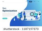 modern flat design concept of... | Shutterstock .eps vector #1187157373