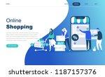 modern flat design concept of... | Shutterstock .eps vector #1187157376