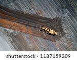 aerial view motor grader civil... | Shutterstock . vector #1187159209