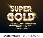 vector super gold and white... | Shutterstock .eps vector #1187166070