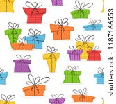 holiday pattern. seamless... | Shutterstock .eps vector #1187166553