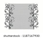lace flowers decoration element ... | Shutterstock .eps vector #1187167930