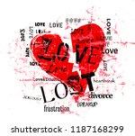 broken heart and lost love...   Shutterstock .eps vector #1187168299