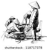vector illustration of a market ... | Shutterstock .eps vector #118717378