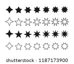 set icon star  vector star set...