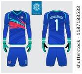 goalkeeper jersey or soccer kit ... | Shutterstock .eps vector #1187183533
