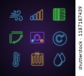 air conditioning neon light... | Shutterstock .eps vector #1187187439