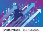 businessman running to...   Shutterstock .eps vector #1187189023