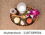 skin care products. sea salt ... | Shutterstock . vector #1187189056