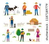 farmer  gardener  characters... | Shutterstock .eps vector #1187189779