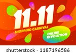 happyl sale poster or flyer... | Shutterstock .eps vector #1187196586