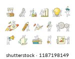 cartoon set with little people... | Shutterstock .eps vector #1187198149