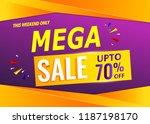 mega sale banner template 70 ...   Shutterstock .eps vector #1187198170