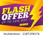 flash sale banner template   Shutterstock .eps vector #1187198176