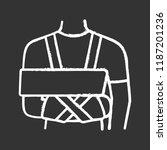 shoulder immobilizer chalk icon.... | Shutterstock .eps vector #1187201236