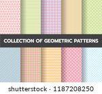 10 different geometric patterns ... | Shutterstock .eps vector #1187208250
