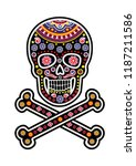 holy death  day of the dead ... | Shutterstock .eps vector #1187211586