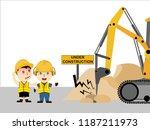 visual drawing of cartoon at... | Shutterstock .eps vector #1187211973